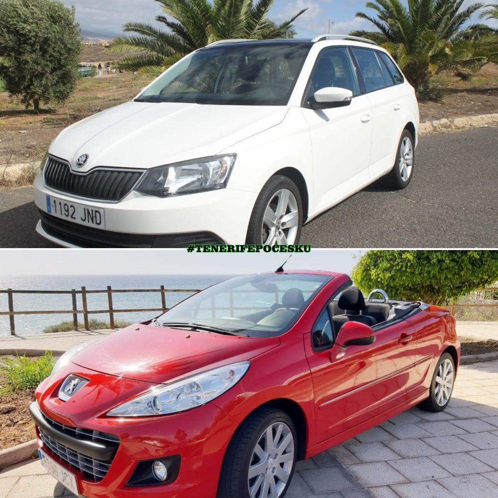 Půjčení auta Tenerife Peugeot 207 kabriolet