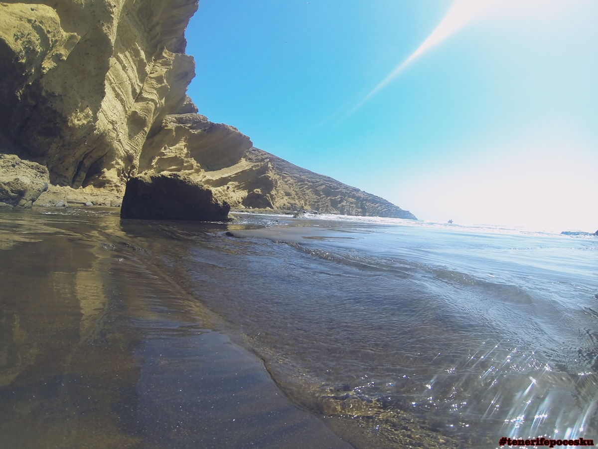 Tenerife secret beach without people